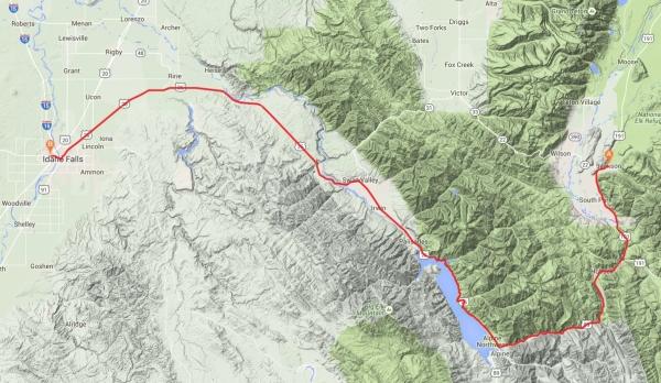 transam11route_Jackson - Idaho Falls
